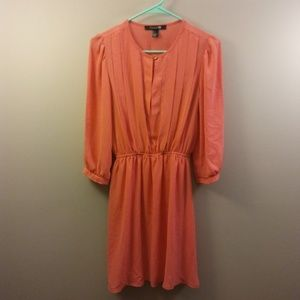 [F-21] 3/4 Sleeve Coral Dress (Size S)
